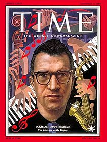 Dave Brubeck - Time Magazine Cover 1954 [courtesy wikipedia.org]